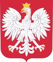 Godło Polski-biały orzeł na czerwonym tle